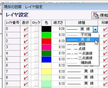 勝手にAR_CAD(自己満)講座 1回目 表示線種の設定