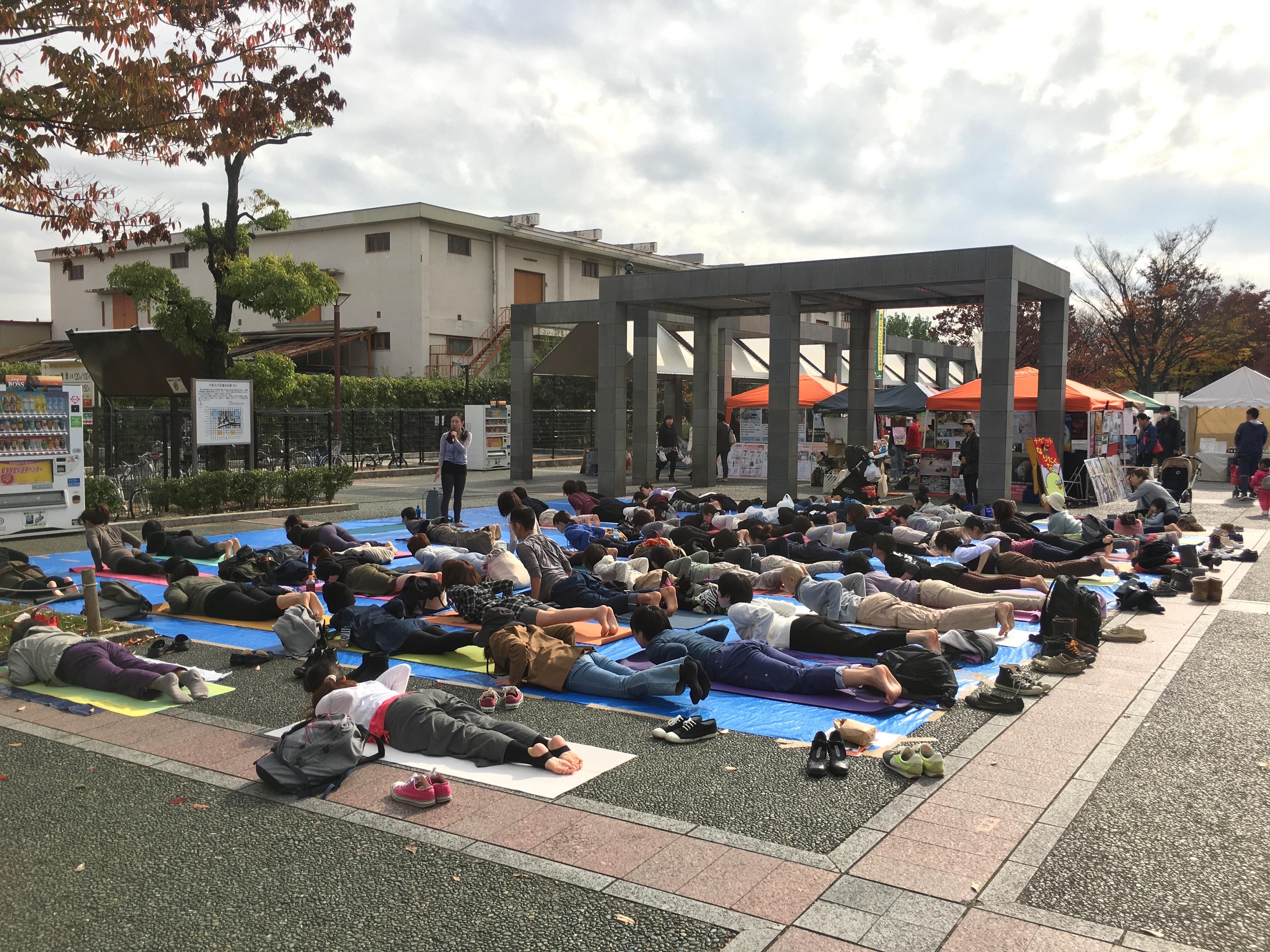 京都ビーガン2015ヨガ