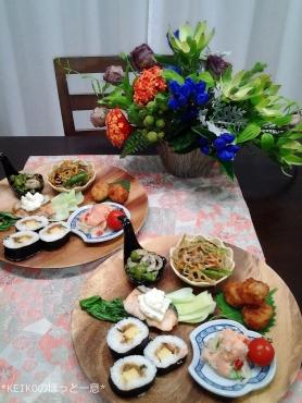 巻き寿司で和ンプレート