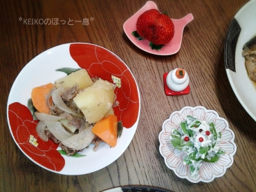 御用納めの日の晩ごはんはおニューの和食器で3