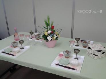 2016年雛祭りテーブルコーデ