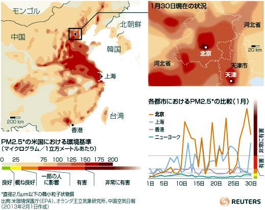 中国、大気汚染6億人に影響02