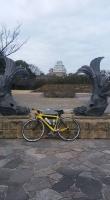 自転車で姫路城