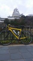 自転車で姫路城1
