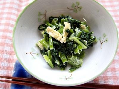 小松菜の辛子マヨあえ