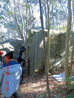 生徒1突き当たり岩