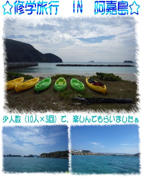 阿嘉島で修学旅行