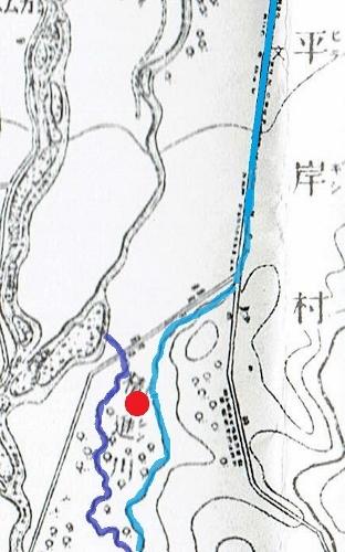 明治29年地形図 平岸 用水周辺