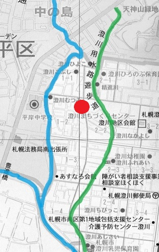 南区 現在図 澄川用水路遊歩道
