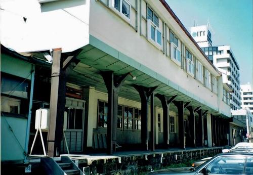 定鉄旧豊平駅舎 プラットホーム跡