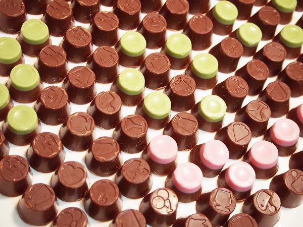 普通に並んでいるチョコ