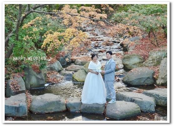 中央公園でHAPPY WEDDING ♪