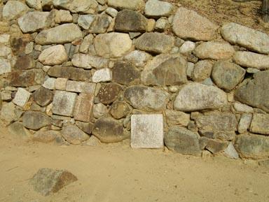 転用石のある石垣