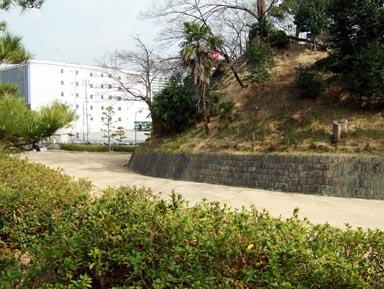 堀跡と土塁2