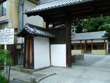 茨木城搦手門2(茨木神社東門)