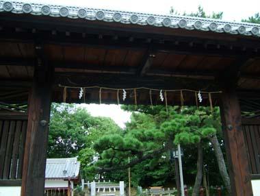 茨木城搦手門3(茨木神社東門)