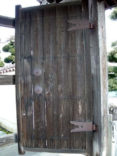 寒河江城移築門の扉