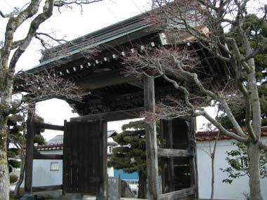 寒河江城移築門裏側