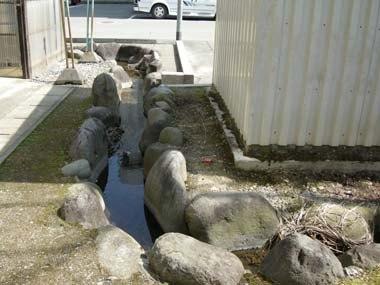 寒河江城二の丸堀の名残り