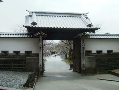金沢城石川門高麗門内側