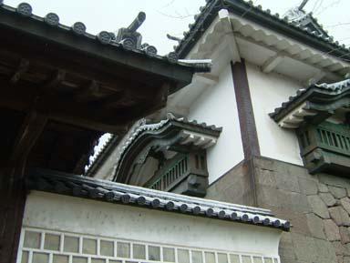 金沢城石川門渡櫓石落