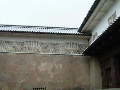 金沢城石川門桝形内部石垣