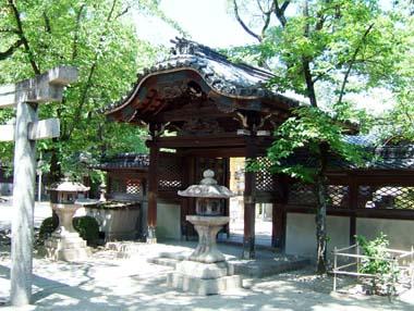 高槻城移築唐門表(野見神社)