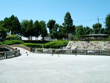 高槻城址公園の模擬石垣
