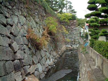 舟入櫓跡石垣