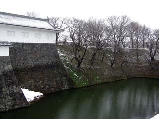 雪の山形城二の丸東大手門多門櫓