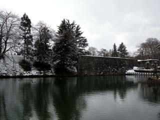雪の山形城二の丸北門