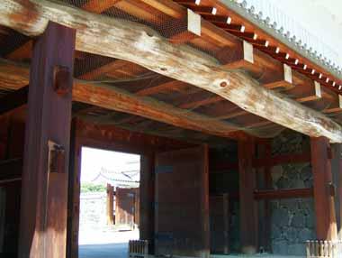 二の丸東大手櫓門梁