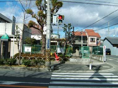 若江公民分館庭の城址説明板