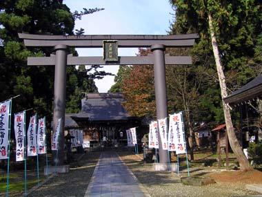 新庄城本丸御殿跡に建つ戸沢神社