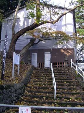 新庄城本丸櫓台跡に建つ天満神社