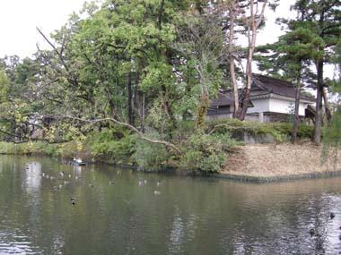 鶴岡城本丸と堀