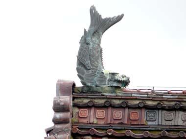 松山城大手門屋上の鯱