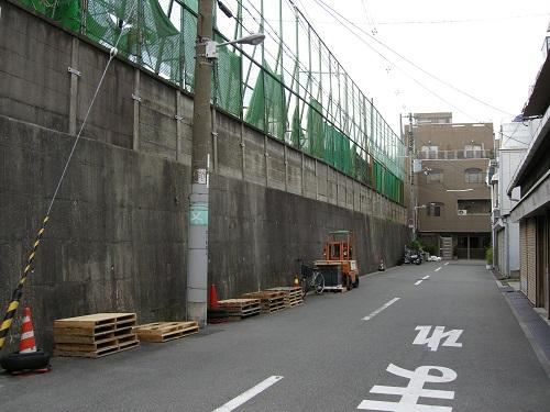 真田丸北側の堀跡2007年12月