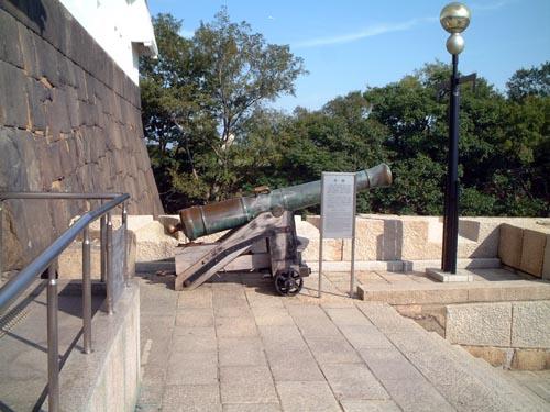 天守閣のドン用大砲
