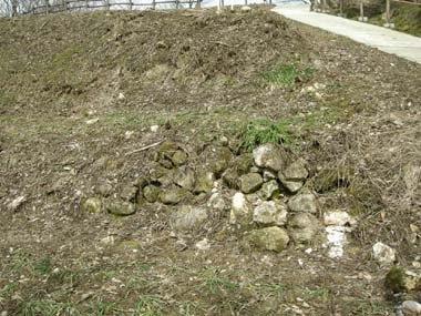 長谷堂城曲輪群の石垣
