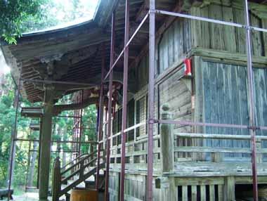 本丸跡に建つ愛宕神社