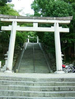 四條畷神社参道石段