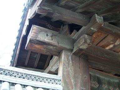 興正寺表門棟木