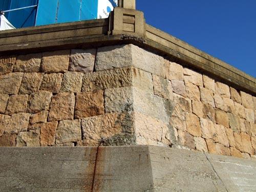 砲台石垣(海岸より)4