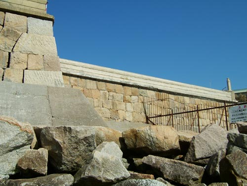 砲台石垣(海岸より)6