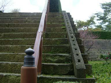福井城天守台石段