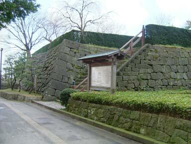 福井城天守台登口