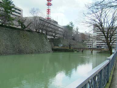 福井城廊下橋全景