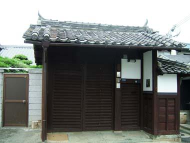 麻田陣屋移築門1(O氏邸門)