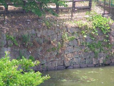 現存する陣屋石垣の一部